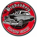 Sticker Bigdaddyjo Kustom spirit red circle chevy scalope used BIG40