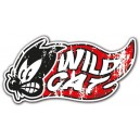 Sticker Bigdaddyjo wild cat rats used chat noir flaming BIG41