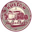Sticker Bigdaddyjo kustom rat Rod run used BIG43