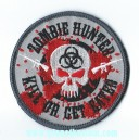 Patch ecusson skull zombie hunter kill or get eaten