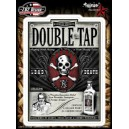 Sticker etiquette bouteille poison double tap lead death skull JA382