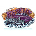 Sticker Bigdaddyjo big dream purple leadsled kustom BIG48