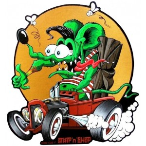 Sticker Strip'n'Shop anne-lise SnS rat rod fink tiki grand