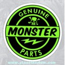 Sticker genuine monster parts vert clair skull 21