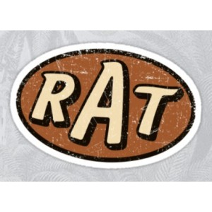 Sticker rat logo patina hoodride rust rusty patina rats 10