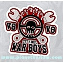 Sticker mad max citadel war boys sports v8 tools skull 24