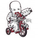 sticker baby trike huffy slider kill it tattoo momy dady baby 2