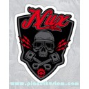Sticker nux car kustom war boys mad max skull 29