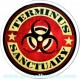 Sticker terminus sanctuary zone quarantaine danger produits chimiques zombie 13
