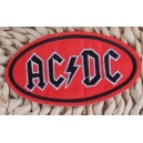 Patch ecusson AC DC hard rock black on red