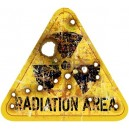 Sticker radioaction area rusty used panneau danger zombie 19