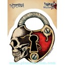 Sticker love strong skull tete de mort cadenas amour JA590