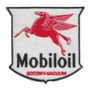 Patch ecusson mobiloil themocollant motor oil competition racing drag