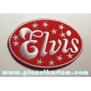 Patch ecusson thermocollant elvis logo stars red