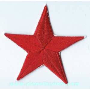 Patch ecusson thermocollant red star etoile polaire rouge