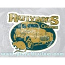 Sticker ratty rods custom rat used patina hoodride rats 22