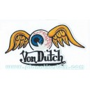 Sticker vondutch flying eye ball signature originale colors von dutch 10