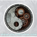 Sticker industrial steampunk yin yang rust rusty used rats 24
