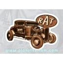 Sticker rat rod notro ford rusty rust used bonneville drag rats 26