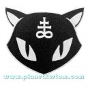 Patch ecusson chat noir black cat satan signe