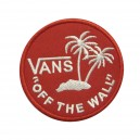Patch ecusson vans themocollant off the wall surf palmiers red