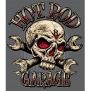 Sticker hot rod garage skull bones tools v8 tete de mort skull 37