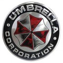 Sticker autocollant umbrella corporation logo rond rats used badge 3d métal