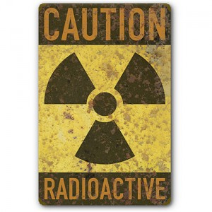 Sticker caution radioactive trisector danger used rust zombie 22