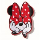 Patch ecusson thermocollant mini kiki rose boude