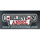 Patch ecusson thermocollant i believe in angel blanc