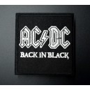 Patch ecusson AC DC hard rock black in black