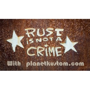 Sticker rust is not a crime star on rust with planet kustom moyen 5