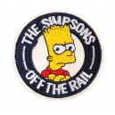 Patch ecusson themocollant the simpsons off the rail bart