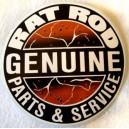 Sticker rat rod genuine parts & service rats rust used grand
