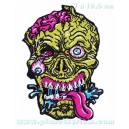 Patch ecusson thermocollant zombie head tete