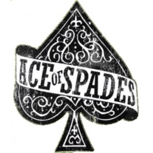 Sticker ace of spades petit as de pique used rats