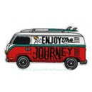 Patch ecusson kombi bus van split camper enjoy the journey surf