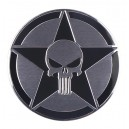 Sticker autocollant skull the punisher black army star badge 3d métal 17
