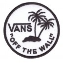 Patch ecusson vans themocollant off the wall surf palmiers blanc