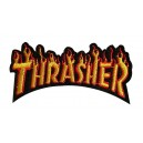 Patch ecusson thrasher skateboard magasine skate flaming