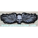 Patch ecusson skull wings biker tete de mort ailée