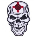Patch ecusson skull army cible croix cross tete de mort crane