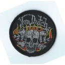 Patch ecusson skull flaming drapeaux damier von dutch racing