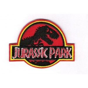 Patch ecusson thermocollant jurassic park film dinosaures