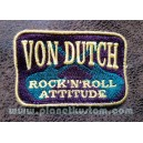 Patch ecusson von Dutch rock n roll attitude or on violet old stock