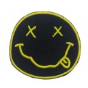 Patch ecusson thermocollant nirvana band grunge garage USA rond