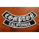 Patch ecusson von Dutch compton california argent et noir dos large