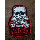 Patch ecusson von Dutch skull motorcycles kustom old stock