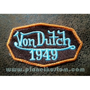 Patch ecusson von Dutch 1949 octogone signature bleu old stock