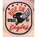 Patch ecusson casque helmet biker ride on eagles wings of